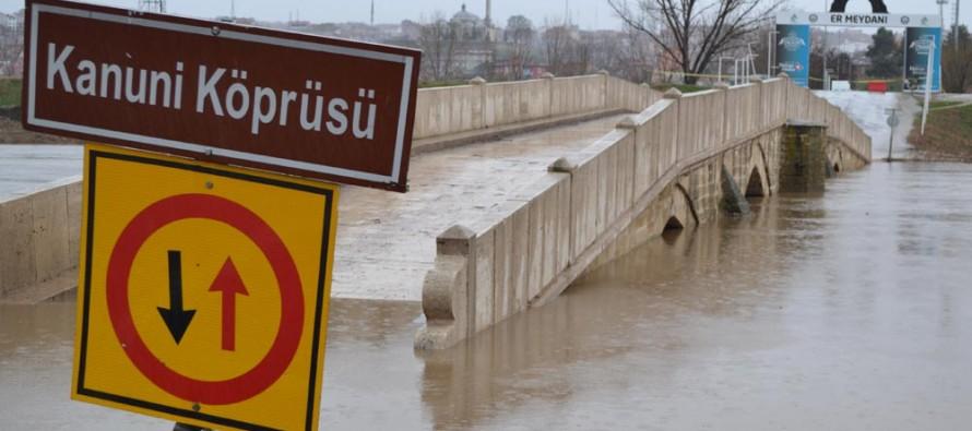 Няколко моста в Одрин отново са залети