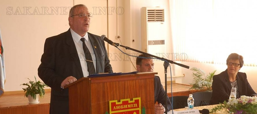 Анастас Анастасов се закле за втори път като кмет на Любимец
