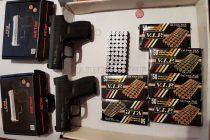 Газови пистолети и патрони задържаха на Капитан Андреево